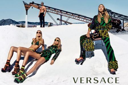 Gigi Natasha Raquel For Versace Spring Summer 2016 Campaign By Steven Klein 1