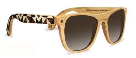 Gafas de sol de madera y piel de taracea, Laveta x Tarxia