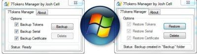 7 Tokens Manager, copia de seguridad para poder activar Windows 7