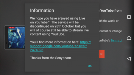 Sony Live On Youtube Xperia Close