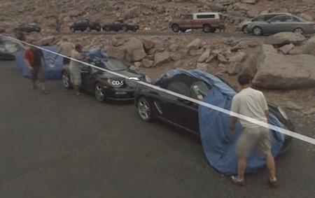 Fotos espía de coches en los lugares más insospechados: Google Streetview
