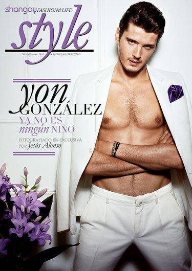 Yon González, de toma pan y moja en la revista Shangay Style