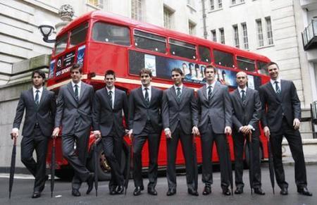 Nuestros tenistas, de gala, por tierras londinenses