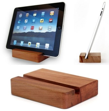 Block Dock, soporte para el iPad de madera maciza