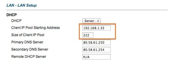 Configuración Router DHCP