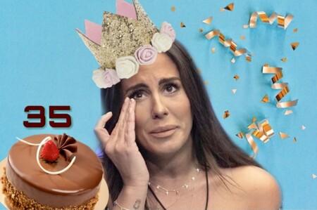 La jugarreta de 'Sálvame' a Anabel en el día de su Panto-cumpleaños: un regalo envenenado y lágrimas a tutiplén