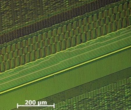 Disco duro al microscopio