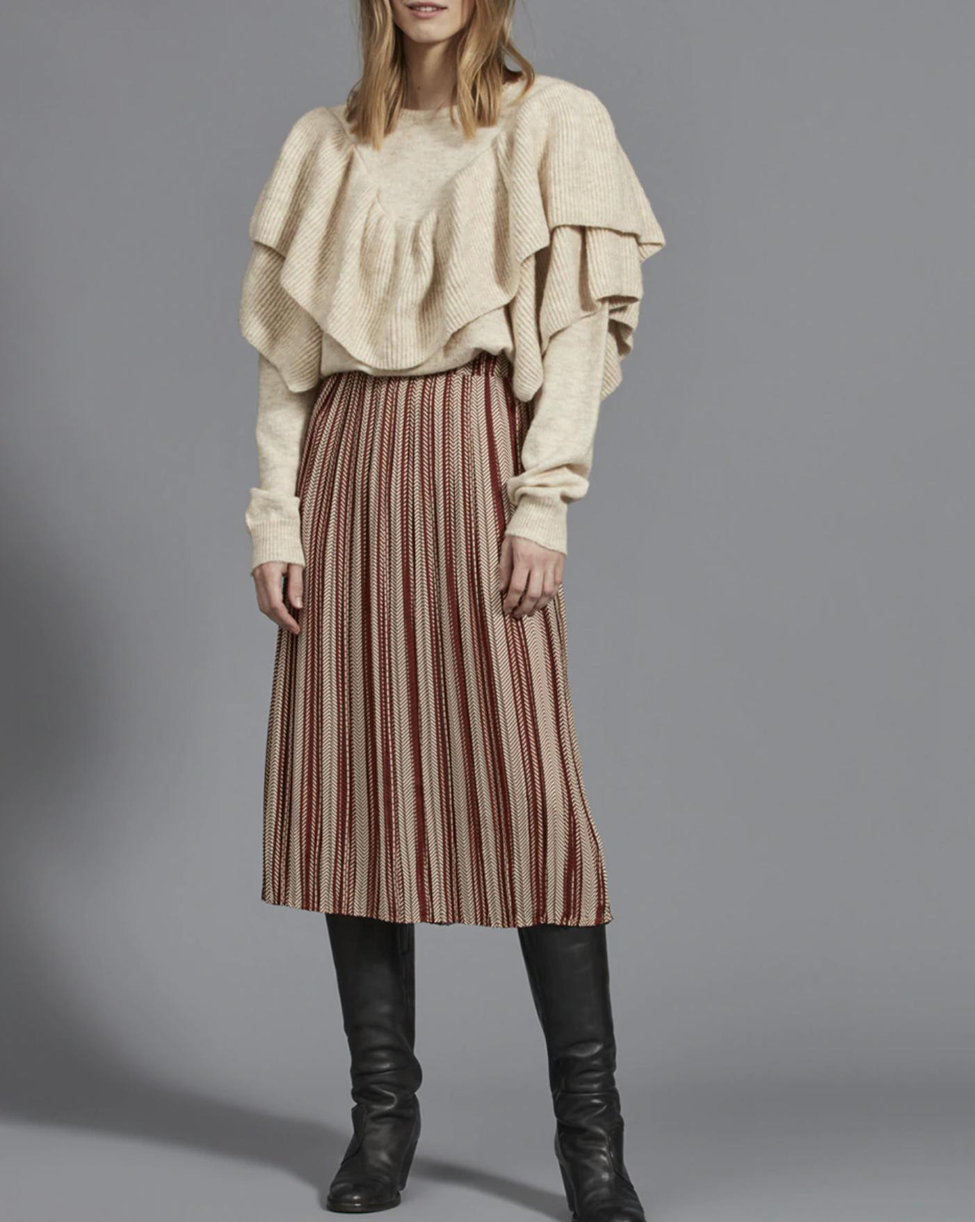 Falda de mujer midi estampada