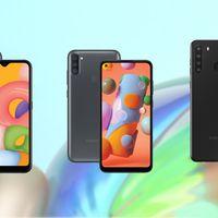 Samsung Galaxy A01, A11 y A21: la gama más económica de Samsung se renueva con pantalla perforada y hasta cuatro cámaras