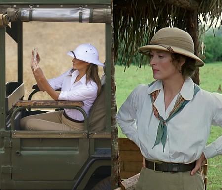 Clásicos de cine: En su viaje a África, Melania se ha puesto todo lo que se esperaba de ella