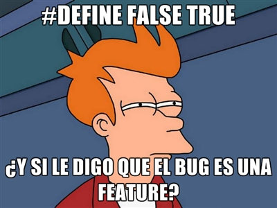 #DEFINE FALSE TRUE