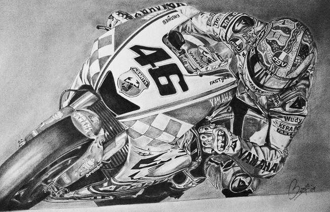 Valentino Rossi Benjamin Jimenez Art Racing