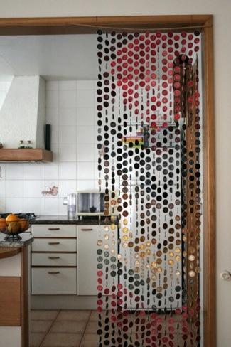 Recicladecoración: una cortina con cápsulas de Nespresso
