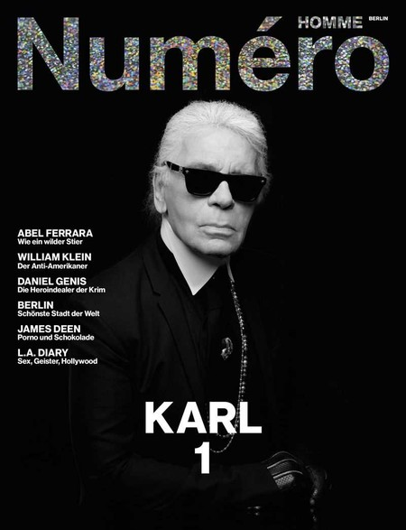 Karl Lagerfeld Covers Numero Homme Berlin