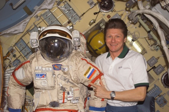 Gennady Padalka With Orlan Suit 580x384
