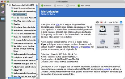 Adobe Reader 8 como lector de feeds RSS