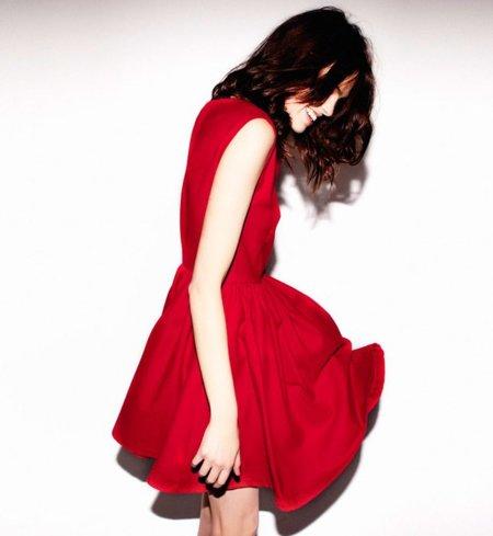 Vestido rojo Pull and Bear fiesta Navidad 2011