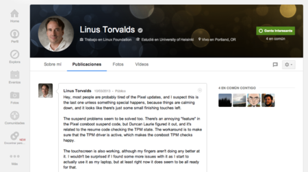 Torvalds en G+