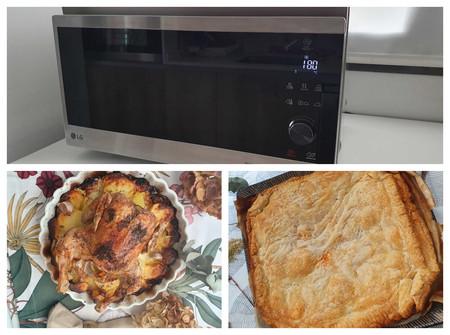 Probamos el horno microondas con grill Smart Inverter de LG: todo sale jugoso y crujiente como en una cocina profesional