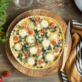 Quiche de espinacas y queso, un plato sano y muy muy rico