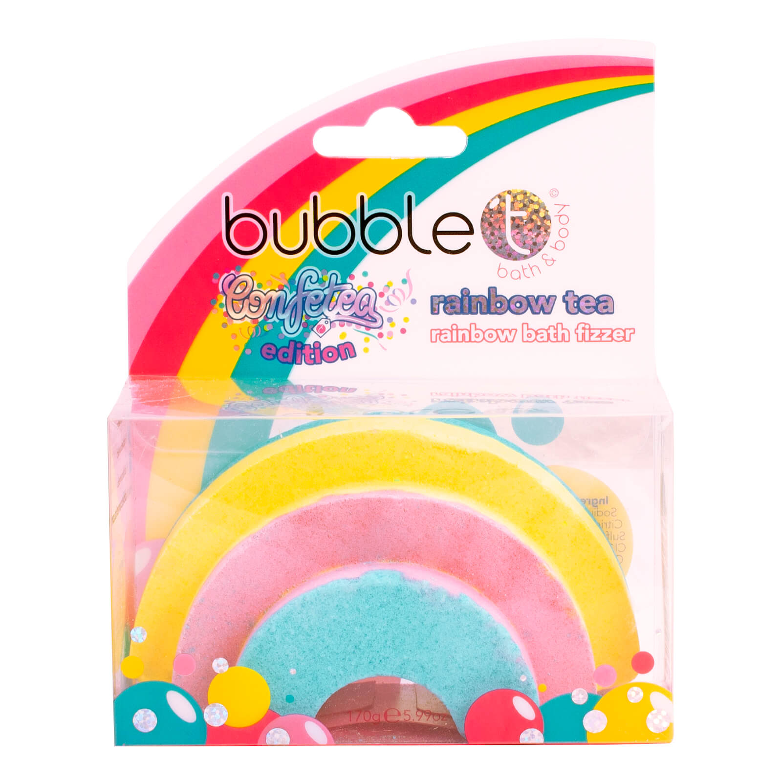 Bomba de baño de arcoíris de Bubble T