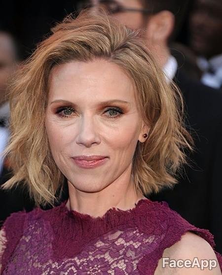 Faceapp Scarlett Johansson