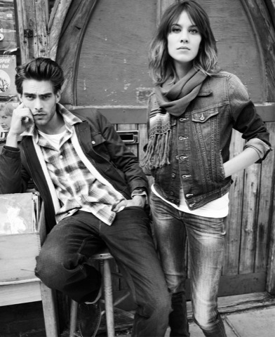 Pepe Jeans con Alexa Chung y Jon Kortajarena, campaña Otoño-Invierno 2010/2011