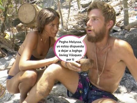 Sergi, novio de Melyssa, se pronuncia por primera vez sobre el tonteo de su pareja con Tom Brusse en 'Supervivientes'
