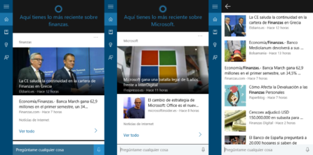 Cortana Noticias