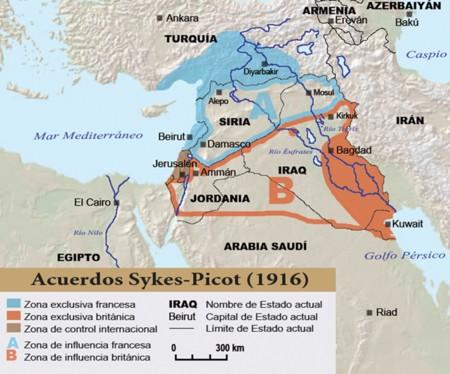 Primera Guerra Mundial Sykes Picot Reinounido Francia