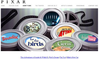 Los cortometrajes de Pixar online