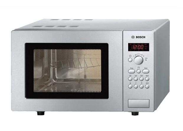 Microondas Bosch MasterChef HMT75G451 con capacidad de 17 litros y grill