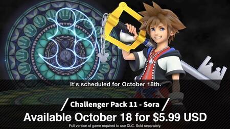 Sora Kingdom Hearts Smash Bros Ultimate Precio Llegada 18 Octubre