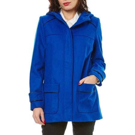 El abrigo de lana mezclada Naf Naf en color zafiro está rebajado a 31,50 euros en la semana de las ofertas de eBay