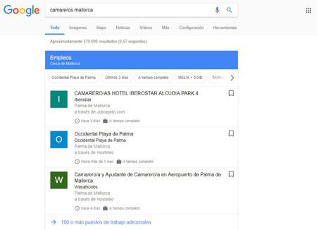 Tu búsqueda de trabajo ahora desde Google, el buscador muestra ofertas de empleo