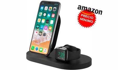 Si buscas base de carga para tu iPhone y tu Apple Wacth, Amazon te deja la Belkin Boost Up a precio mínimo, por sólo 99,90 euros