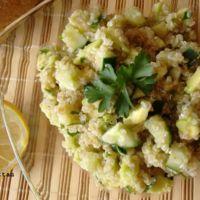 Ensalada verde de quinoa. Receta saludable