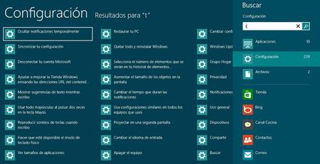 Resultados de búsqueda en Windows 8 adaptados a lo que se hace en cada momento