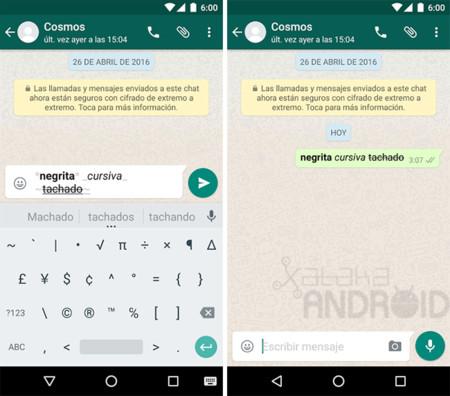 Whatsapp Formato