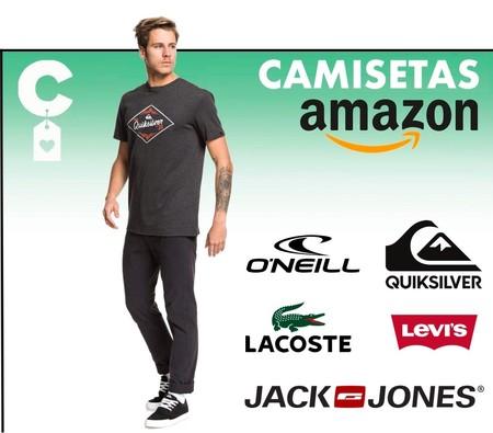 18 camisetas de manga corta Levi's, Jack & Jones, Lacoste o Quiksilver, en Amazon, a precios de locura: desde sólo 7,70 euros