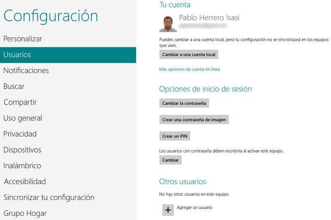 Usuarios Windows 8
