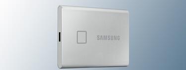 La unidad SSD portátil Samsung T7 de 2 TB con huella dactilar para archivos cifrados está en Amazon por 322,07 euros, su mínimo