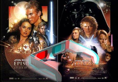 Los carteles de Star Wars - Episodio 2: El ataque de los clones y Star Wars - Episodio 1: La venganza de los Sith
