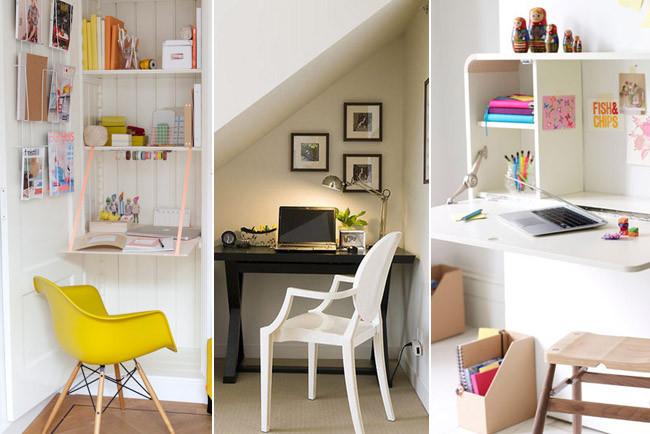Tres peque os espacios de trabajo con mucho encanto for Decoracion de lugares pequenos