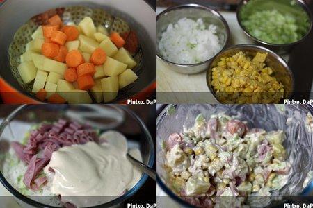Ensalada de patata con mayonesa japonesa. Pasos