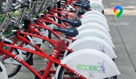 Google Maps añade en México todas las estaciones e información en tiempo real de Ecobici para los usuarios en CDMX