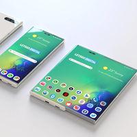 Samsung imagina un futuro smartphone con pantalla lateral extraíble para duplicar su tamaño
