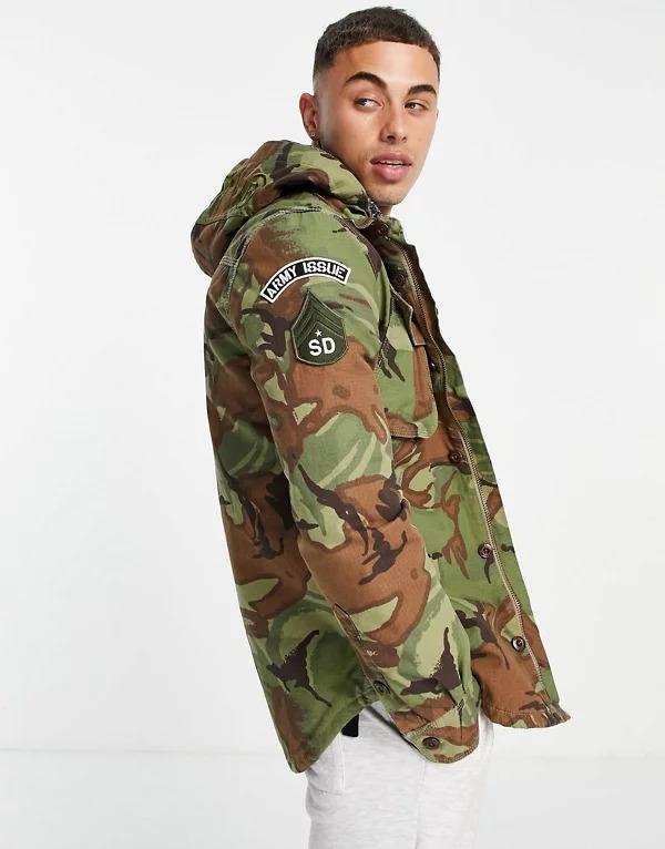 Chaqueta con capucha de estilo militar Storm de Superdry