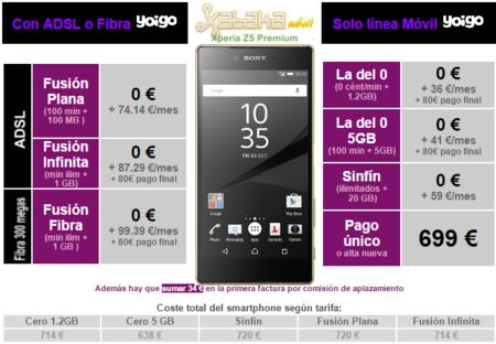 Precios Sony Xperia Z5 Premium Con Yoigo