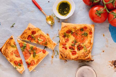 Tarta de tomate y albahaca receta para preparar con mayonesa McCormick